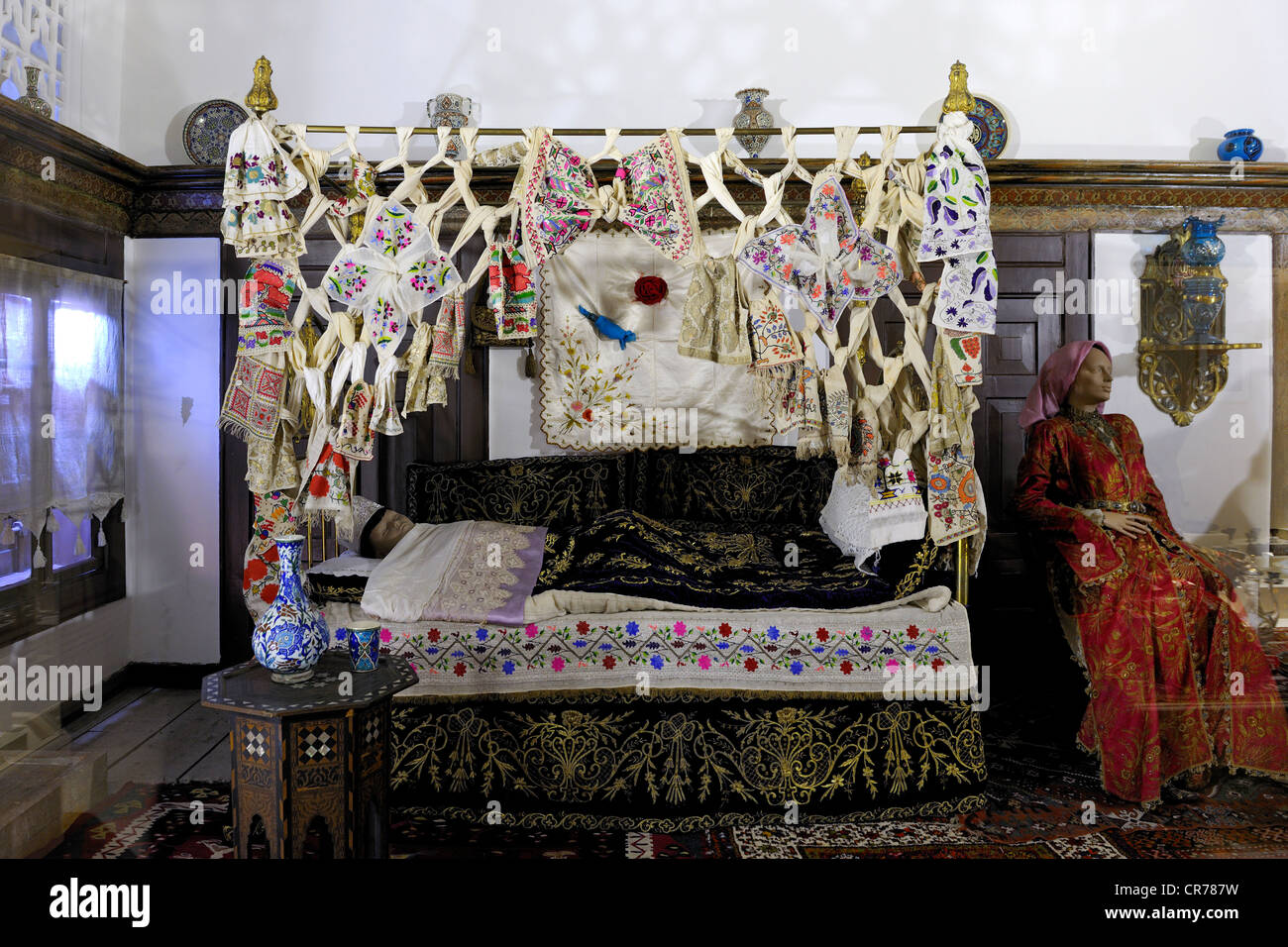 Turkey, Central Anatolia, Ankara, the Ethnographic Museum, the circumcision room - Stock Image