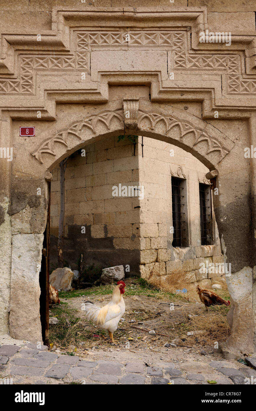 Turkey, Central Anatolia, Nevsehir Province, Cappadocia UNESCO World Heritage, Urgup, entry of an old mansion - Stock Image