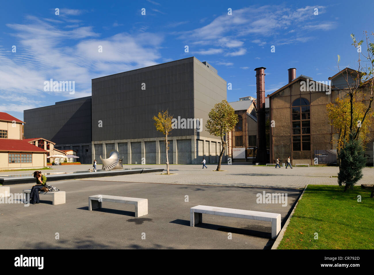 Turkey, Istanbul, Golden Horn, Eyup District, Santralistanbul Contemporary Art Center (Santral Istanbul) by architects - Stock Image