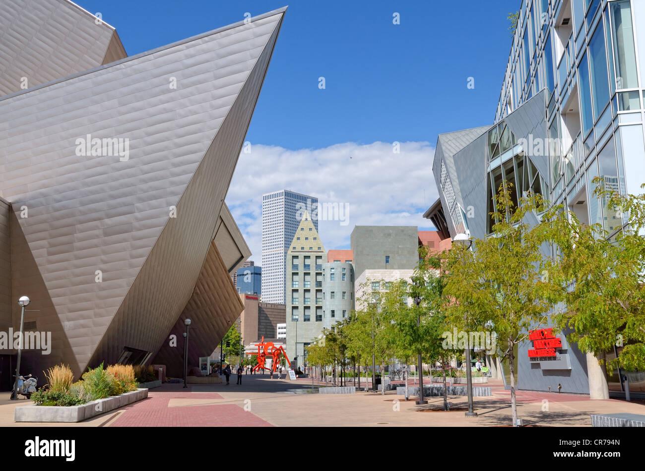 Civic Center Cultural Complex, Denver, Colorado, USA, PublicGround - Stock Image