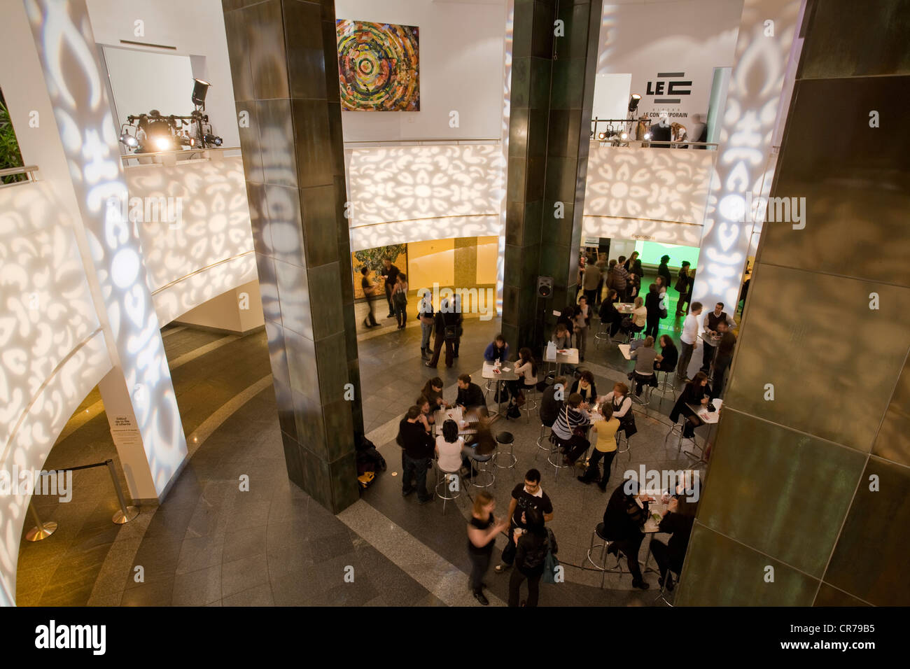 Canada, Quebec, Montreal, museum of contemporary art, MAC, Nocturnes Friday show - Stock Image
