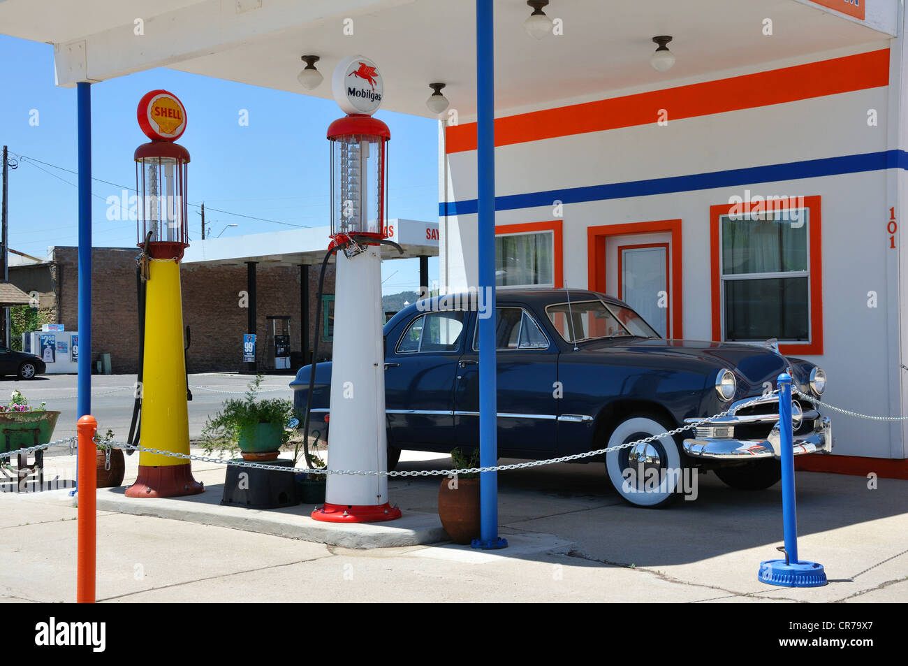 Nostalgic gas station in Williams, Arizona (old Route 66 town Stock ...