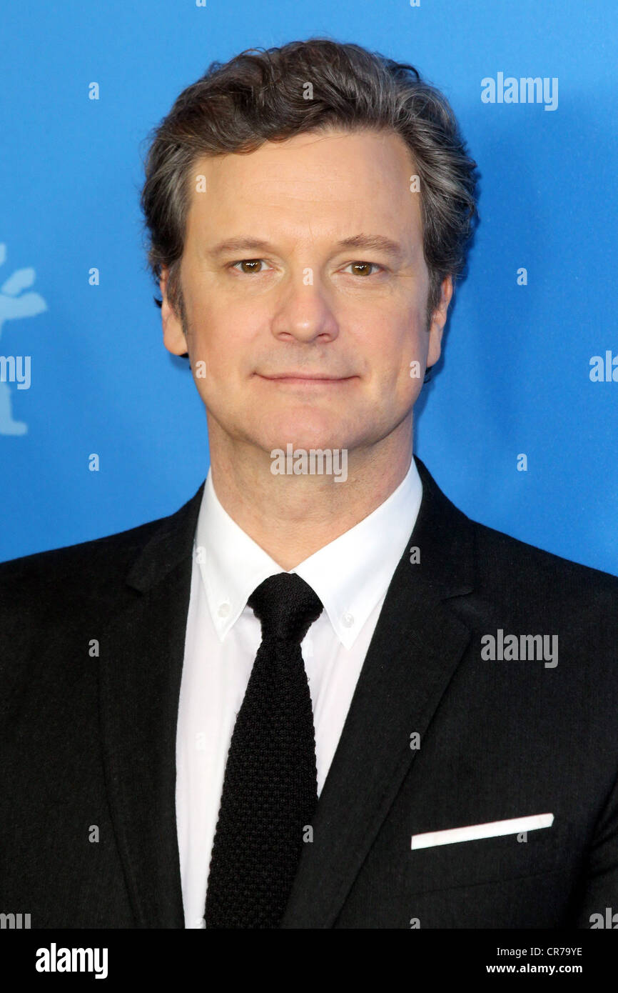 Firth, Colin, * 10.9.1960, British actor, portrait, during photo call to 'The King's Speech', Berlin - Stock Image