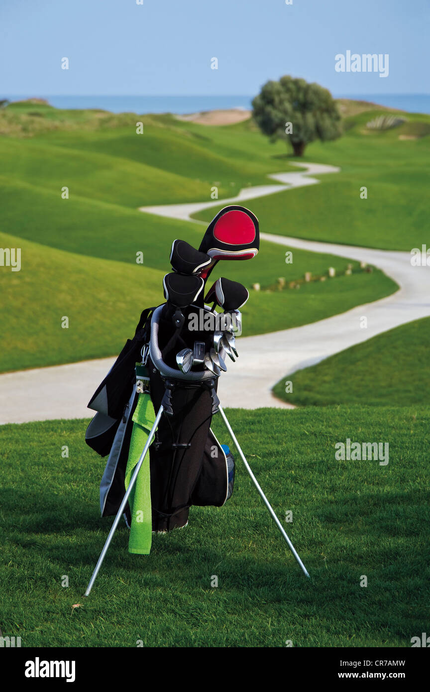 Turkey, Antalya, Golf club in golf bag - Stock Image