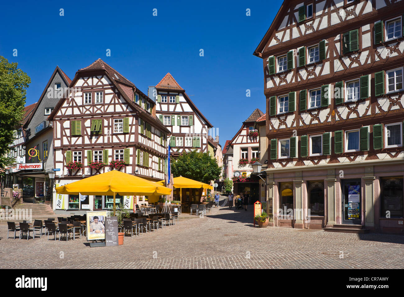 half timbered houses on the market square mosbach odenwald stock photo 48720055 alamy. Black Bedroom Furniture Sets. Home Design Ideas