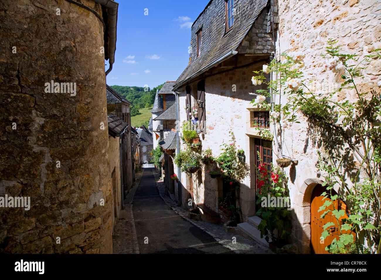France, Correze, Turenne, labelled Les Plus Beaux Villages de France, the old village - Stock Image