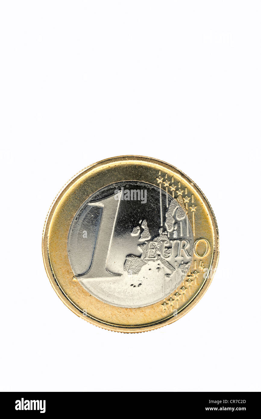 One-euro coin - Stock Image