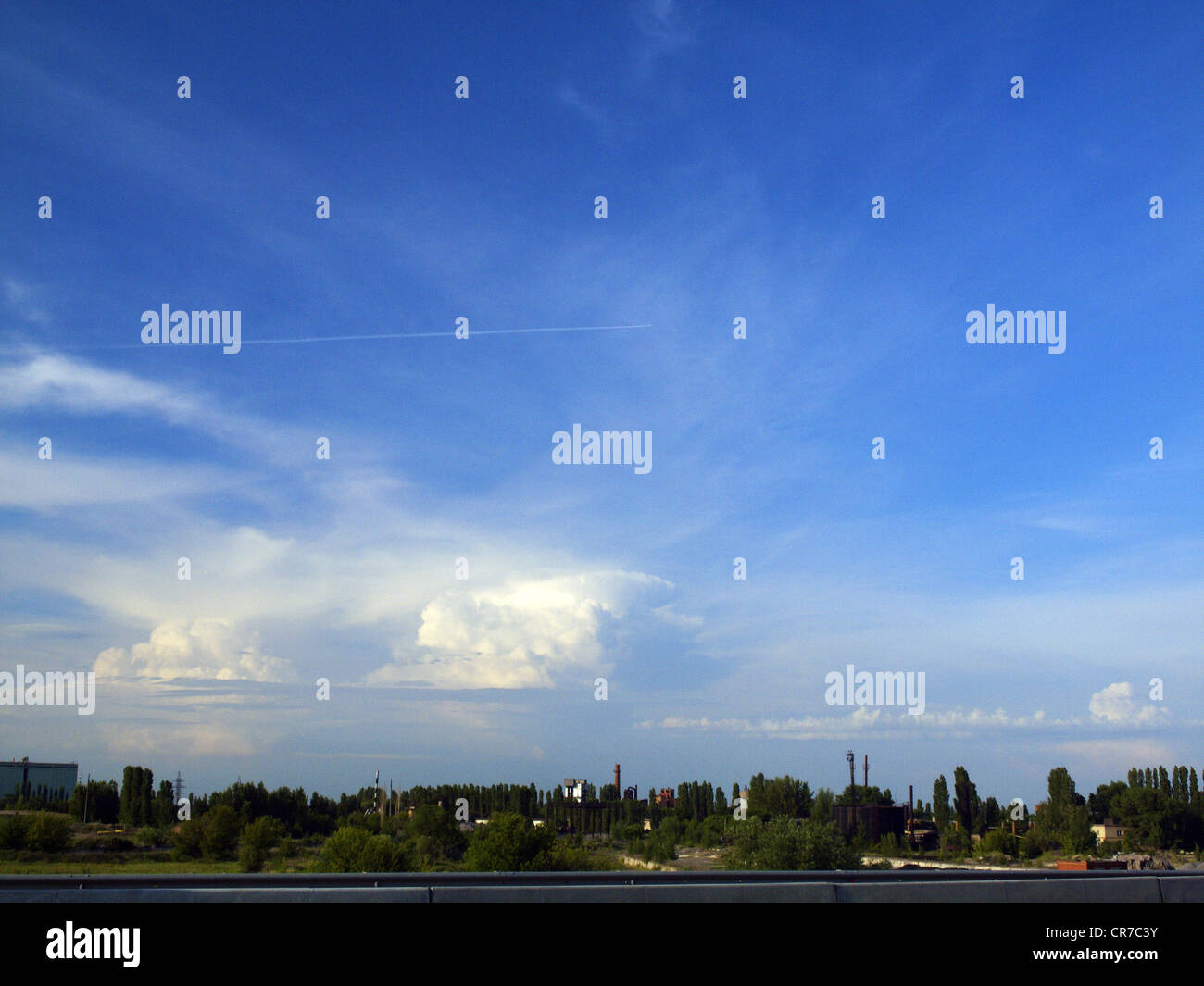 Digital shot of a large storm cloud near Voronezh. - Stock Image
