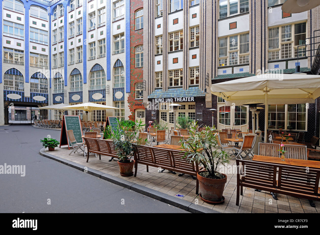 Hackesche Hoefe courtyards, catering, accommodation, culture, commerce and life, Berlin, Germany, Europe - Stock Image
