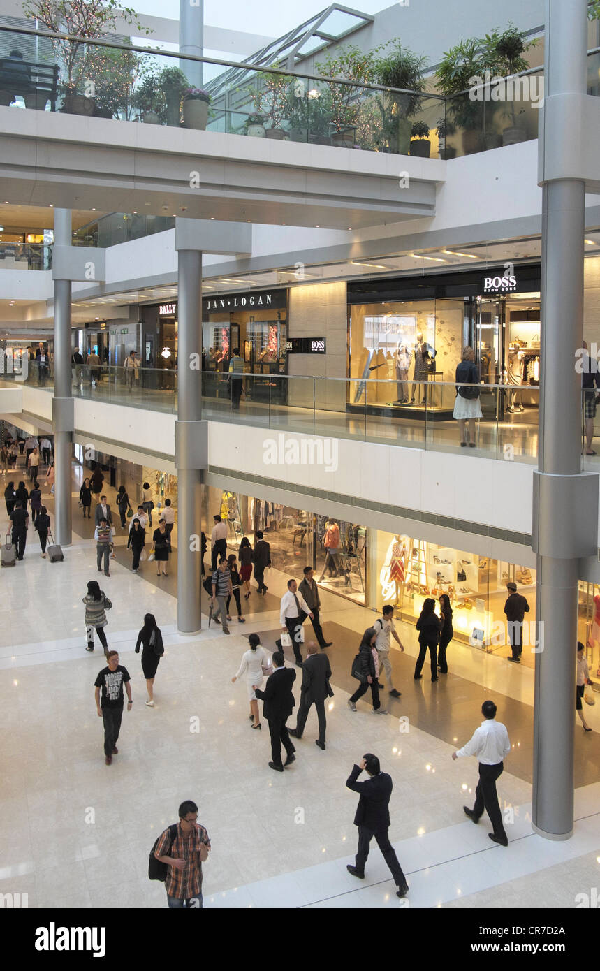 Interior of IFC shopping mall in Hong Kong - Stock Image