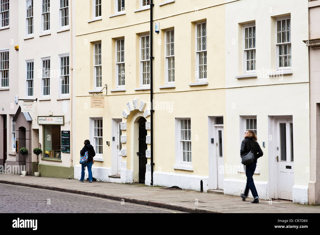 United Kingdom, East Midlands, Nottinghamshire, Nottingham, High Pavement Street, pedestrians - Stock Image