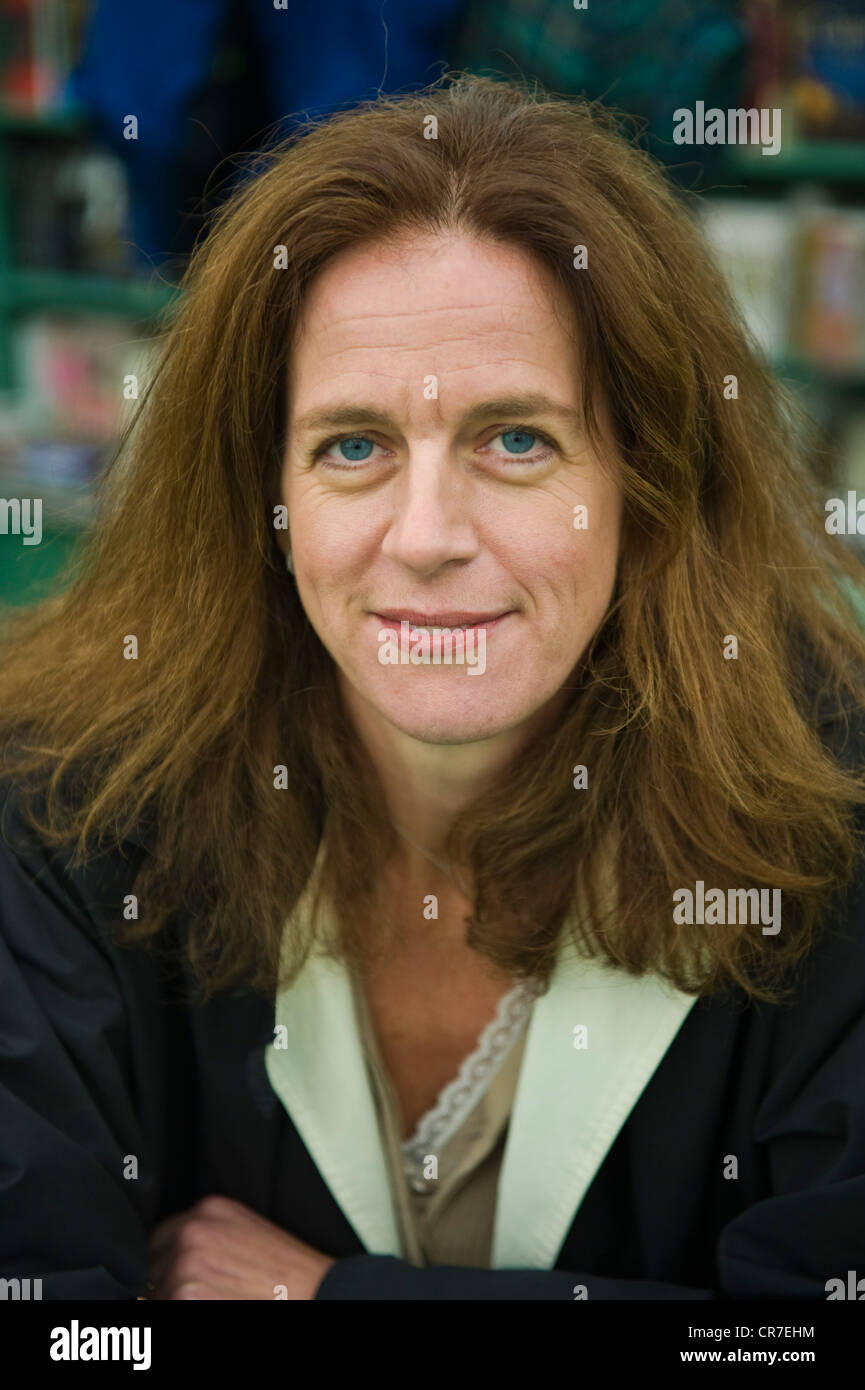 Clare Clark, English author pictured at The Telegraph Hay Festival 2012, Hay-on-Wye, Powys, Wales, UK - Stock Image