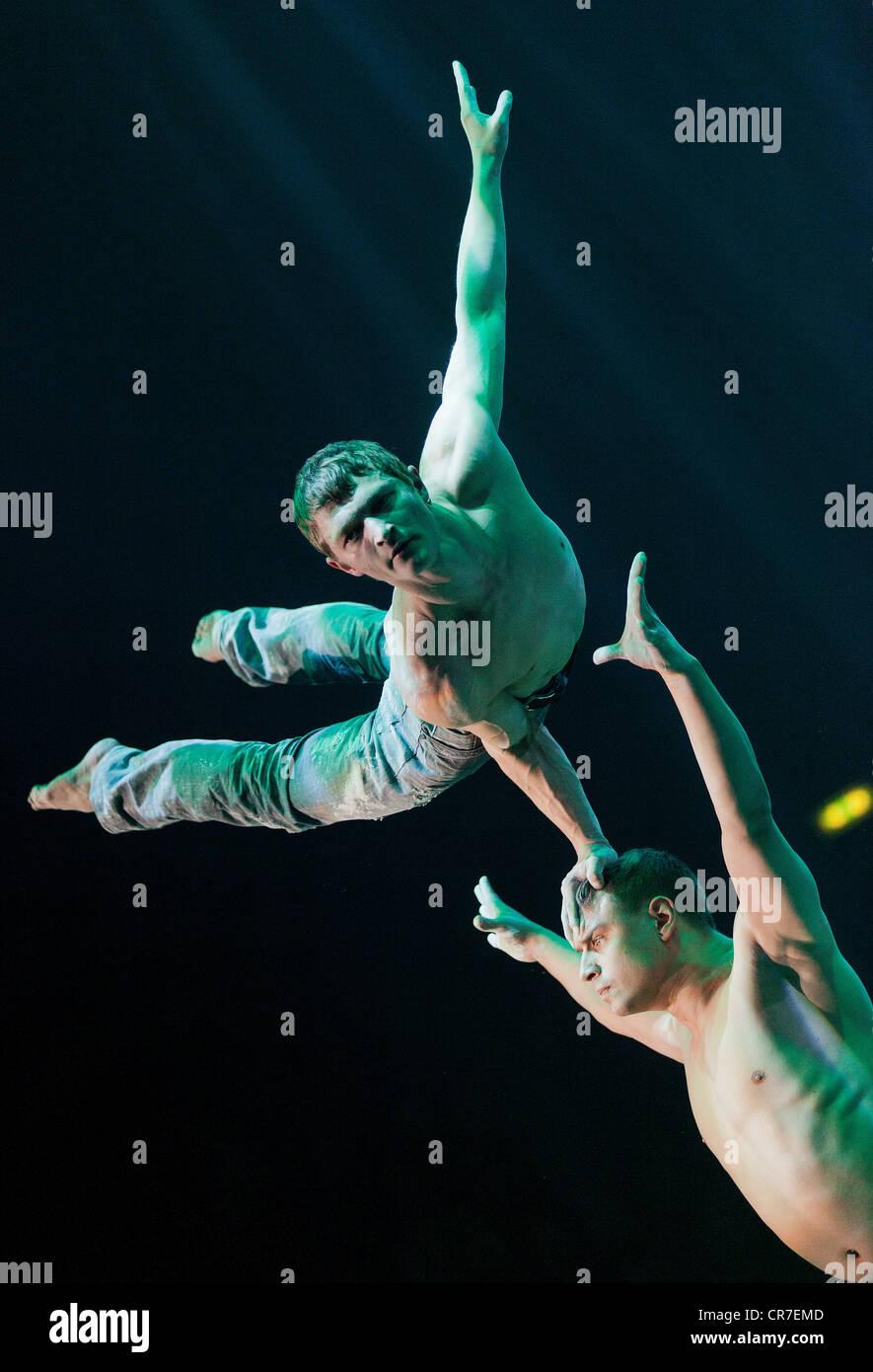 Spirin and Kotelnikov, FlicFlac Christmas Circus, premiere of Schrille Nacht, eilige Nacht, Westfalia Hall, Dortmund Stock Photo