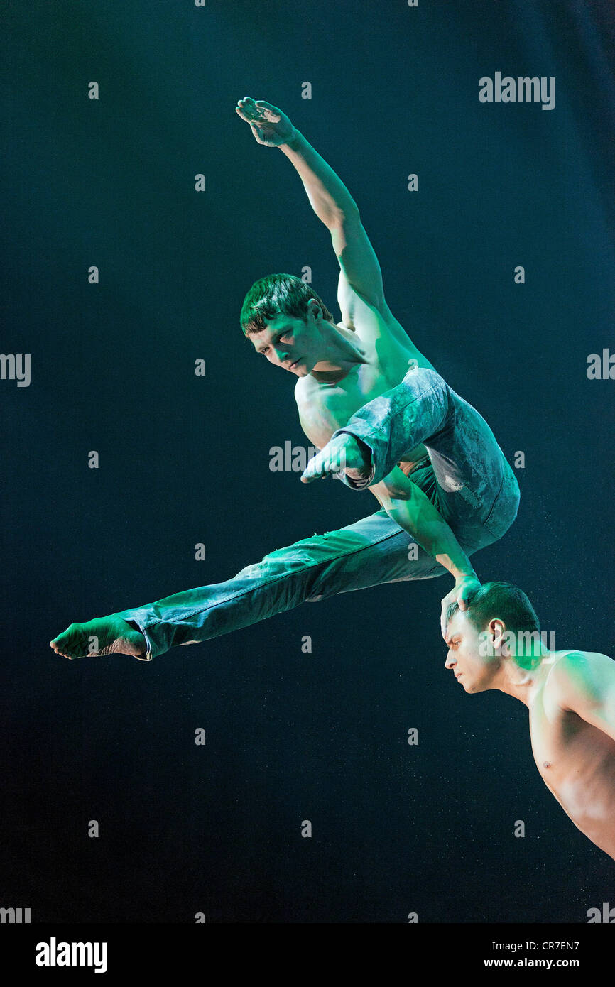 Spirin and Kotelnikov, FlicFlac Christmas Circus, premiere of Schrille Nacht, eilige Nacht, Westfalia Hall, Dortmund - Stock Image