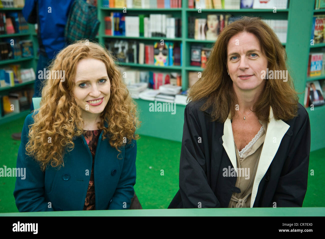 Kate Williams & Clare Clark, English authors pictured at The Telegraph Hay Festival 2012, Hay-on-Wye, Powys, - Stock Image
