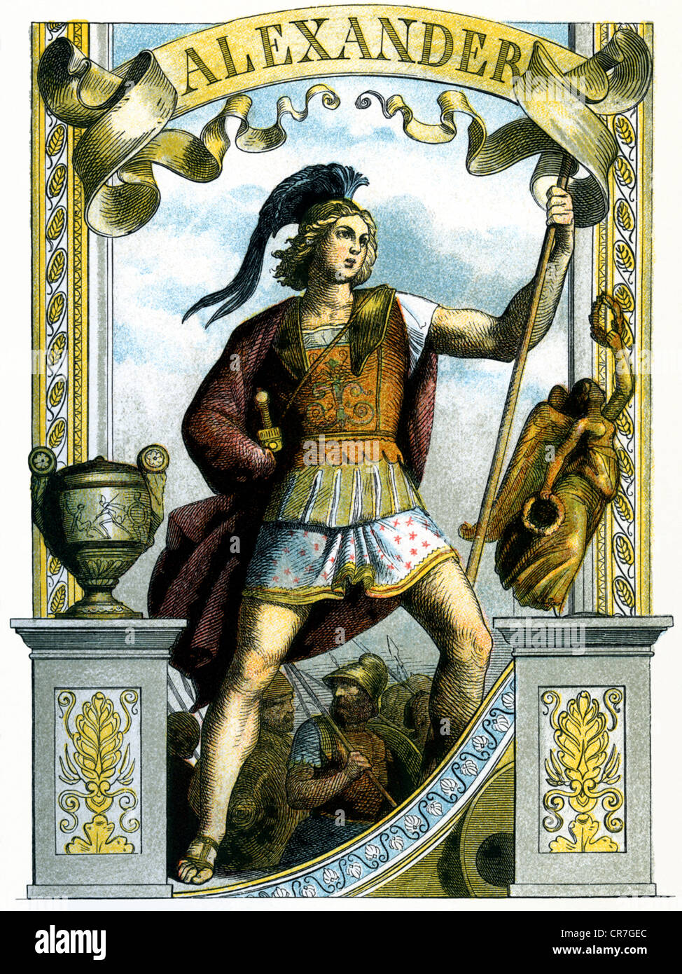 Alexander the great king of macedonia 356 bc 136323 bc full alexander the great king of macedonia 356 bc 136323 bc full length illustration from great men in word and illustra kristyandbryce Choice Image