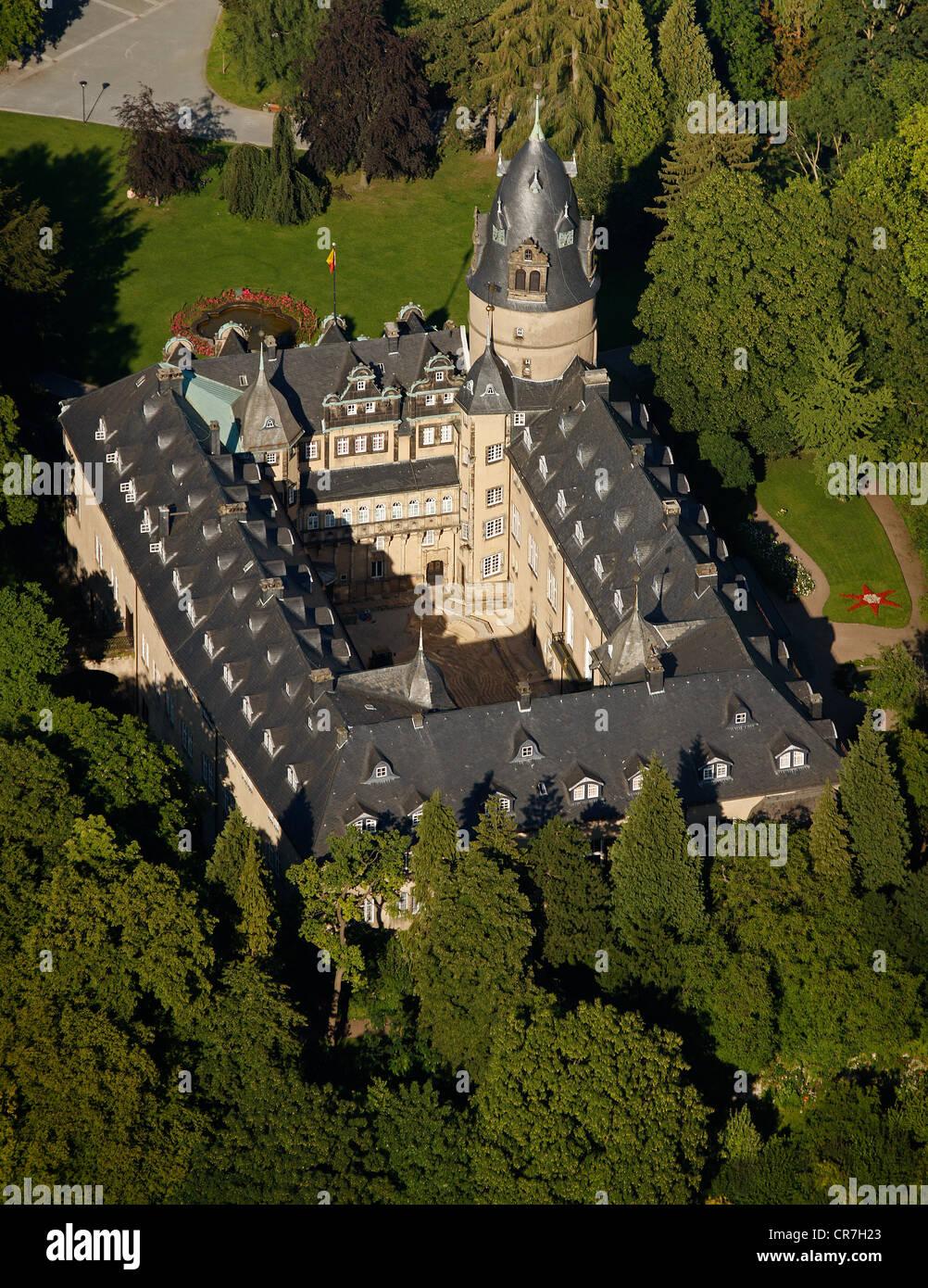Aerial view, Fuerstliches Residenzschloss Detmold or Princely Residence castle Detmold, Ostwestfalen-Lippe, eastern Westphalia Stock Photo