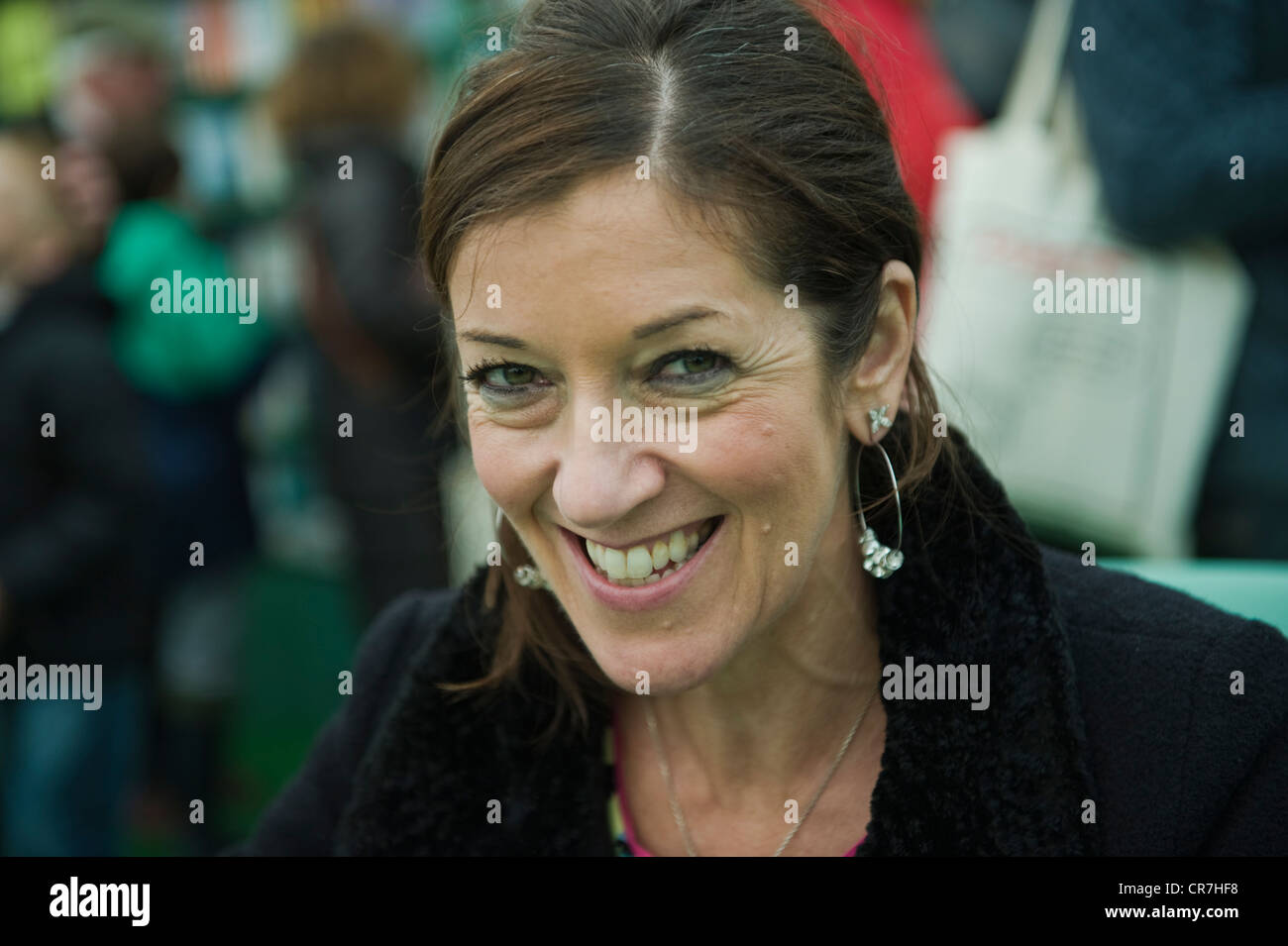 Victoria Hislop, English author and novelist pictured at The Telegraph Hay Festival 2012, Hay-on-Wye, Powys, Wales, - Stock Image