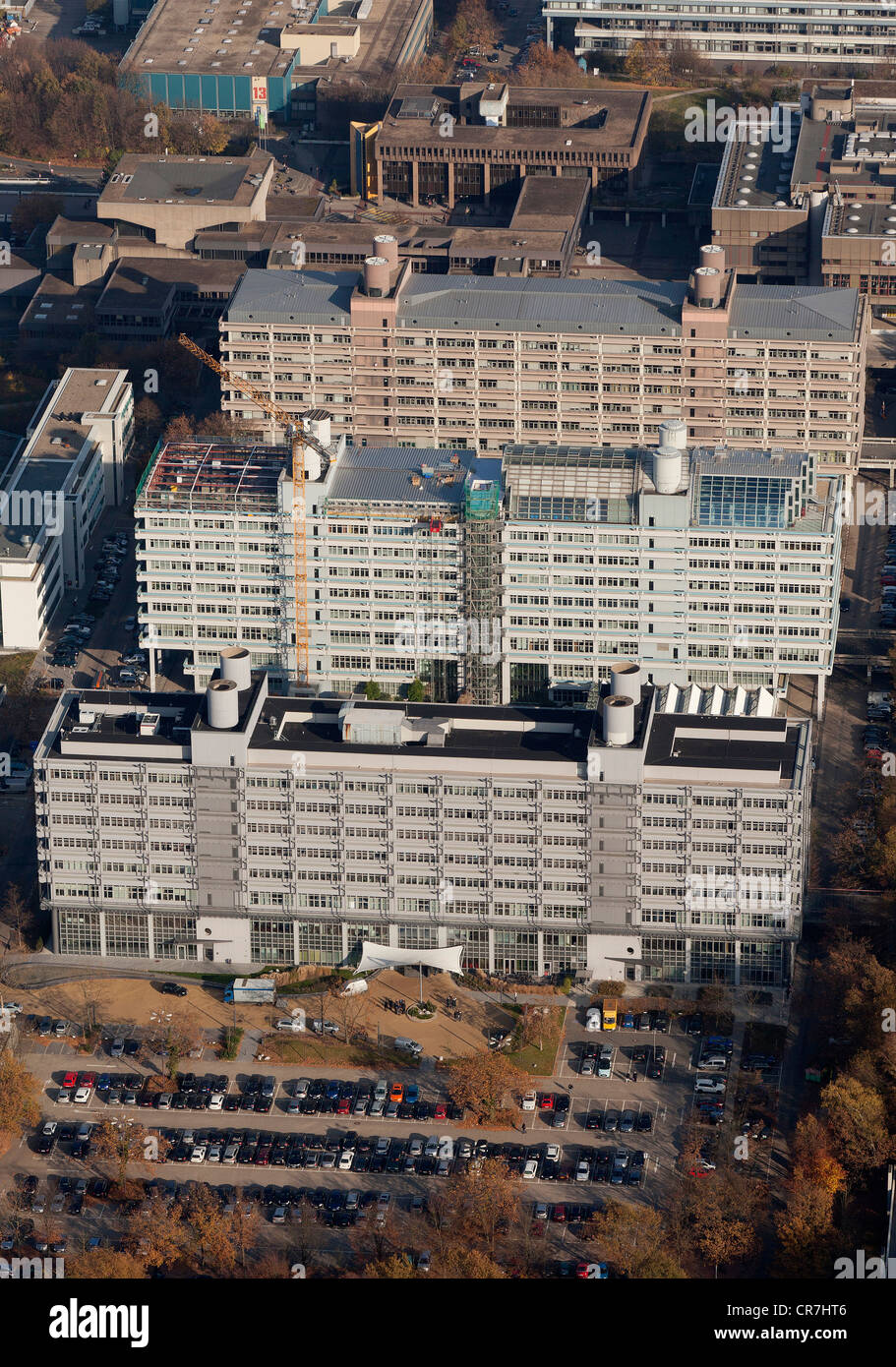 Aerial view, Uni-Tech-Center at front, Technologiezentrum Ruhr, centre, MA-Building of the Faculty of Medicine at - Stock Image