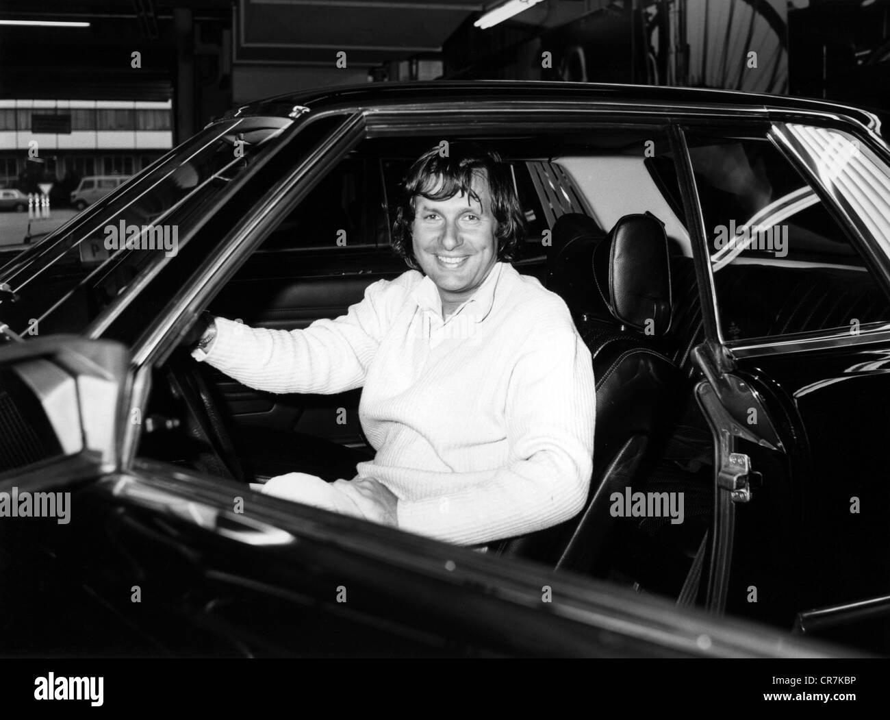 Jarier, Jean-Pierre, * 10.6.1946, French racing driver, in a Mercedes-Benz 450 SLC, 1980s, Additional-Rights-Clearances - Stock Image