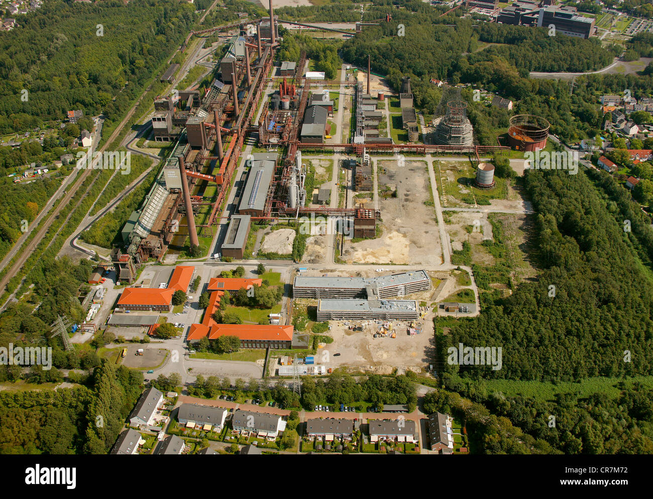 Aerial view, RAG Montan Immobilien, Zollverein, Essen, Ruhr Area, North Rhine-Westphalia, Germany, Europe - Stock Image