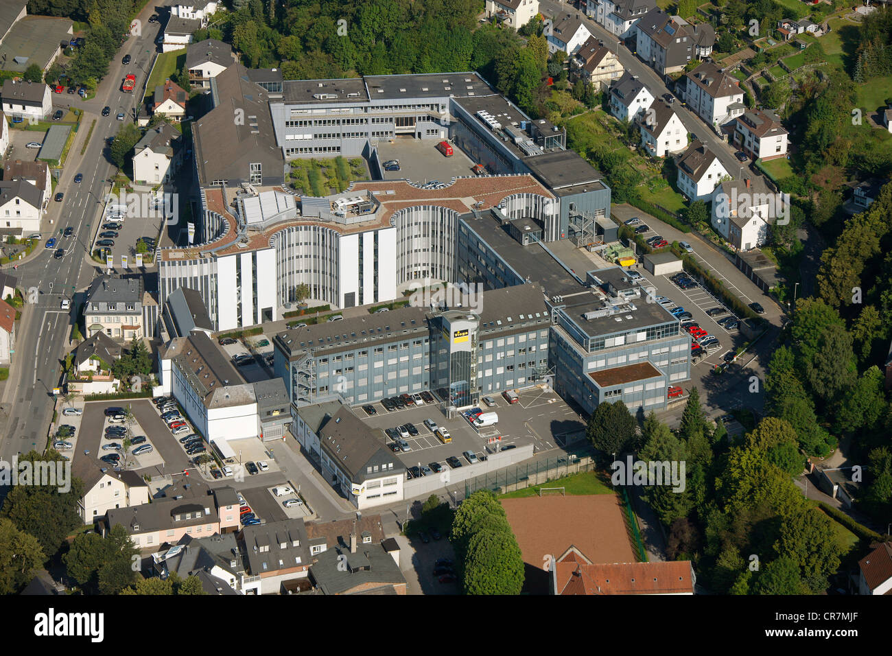 Aerial view, Viega GmbH & Co. KG, internationally active SME, small and medium-sized enterprises, in plumbing, - Stock Image