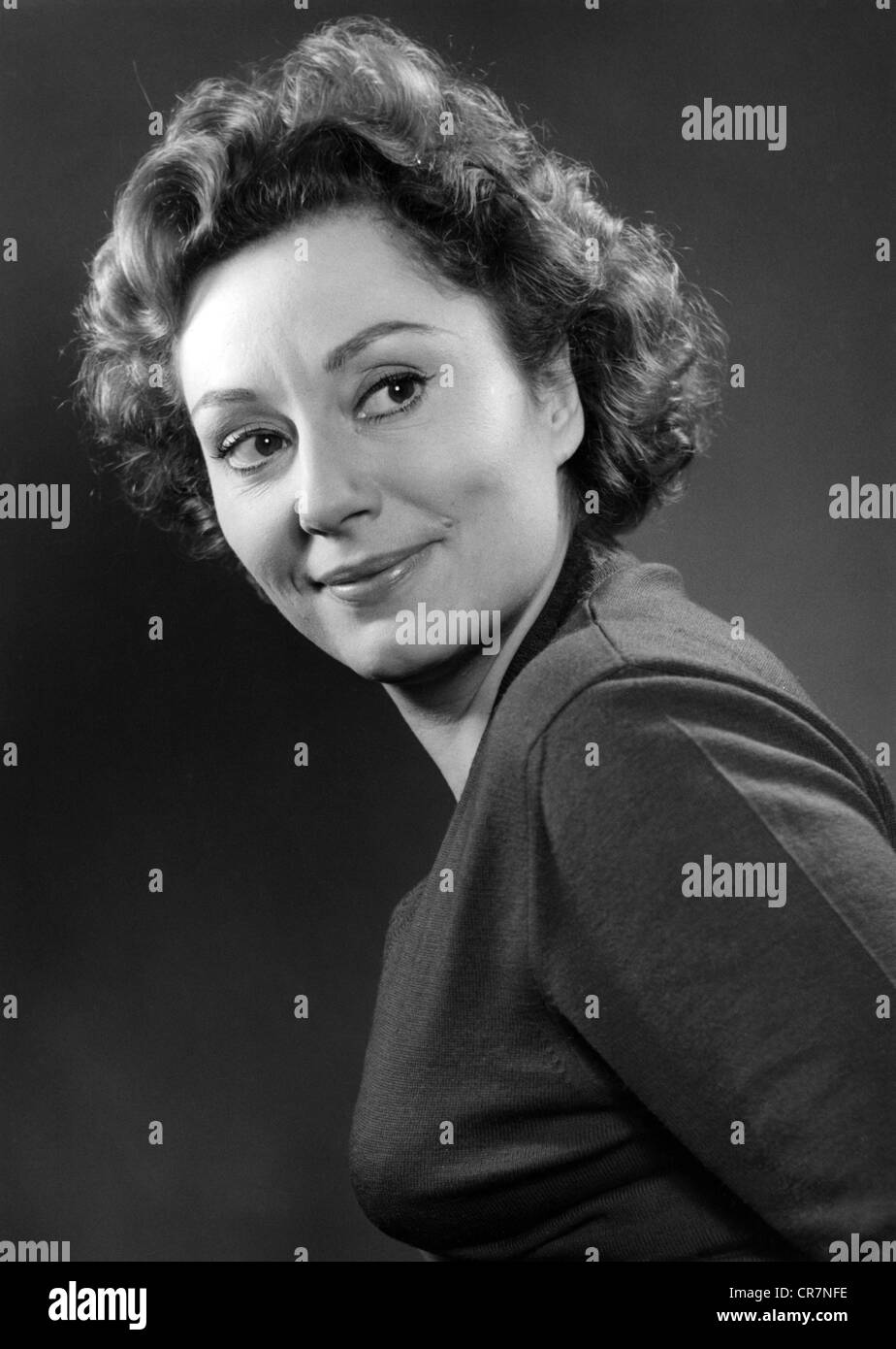 Müthel, Lola, 9.3.1919 - 11.12.2011, German actress, portrait, 1950s, Additional-Rights-Clearances-NA - Stock Image