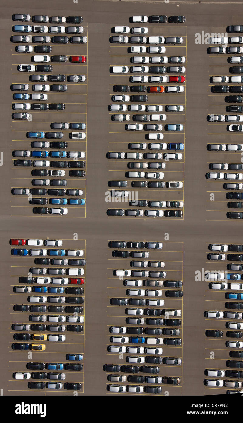 aerial view parking site car stock photos aerial view. Black Bedroom Furniture Sets. Home Design Ideas