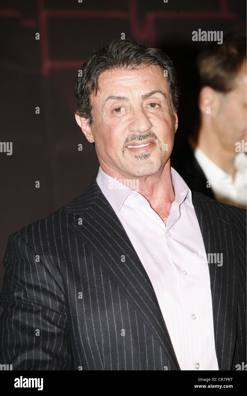 Stallone, Sylvester, * 6.7.1946, American actor, portrait, during the presentation of the musical 'Rocky - Fight - Stock Image