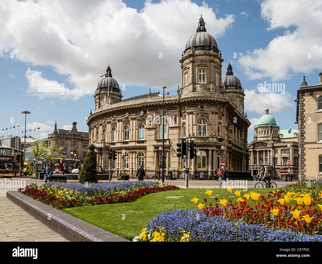 Maritime Museum and City Hall from Queens Gardens Kingston-upon-Hull ...