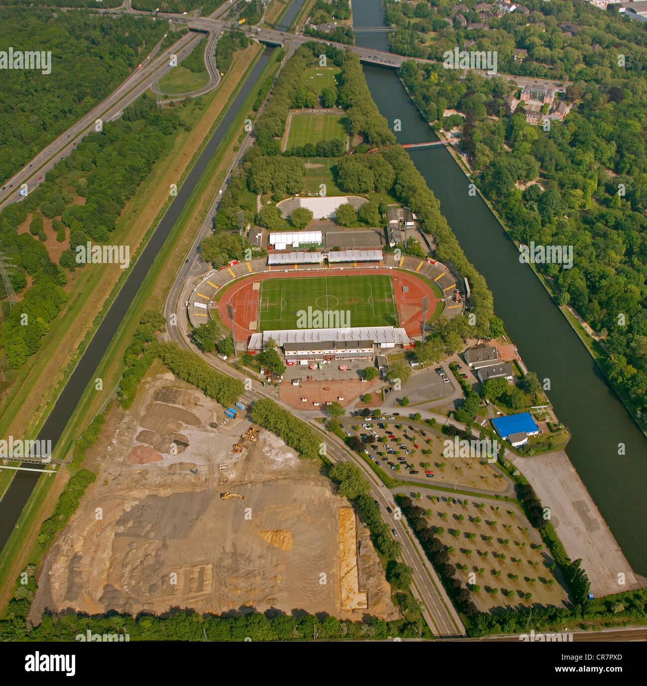 Aerial view, Niederrheinstadion stadium, Oberhausen, Ruhr area, North Rhine-Westphalia, Germany, Europe - Stock Image
