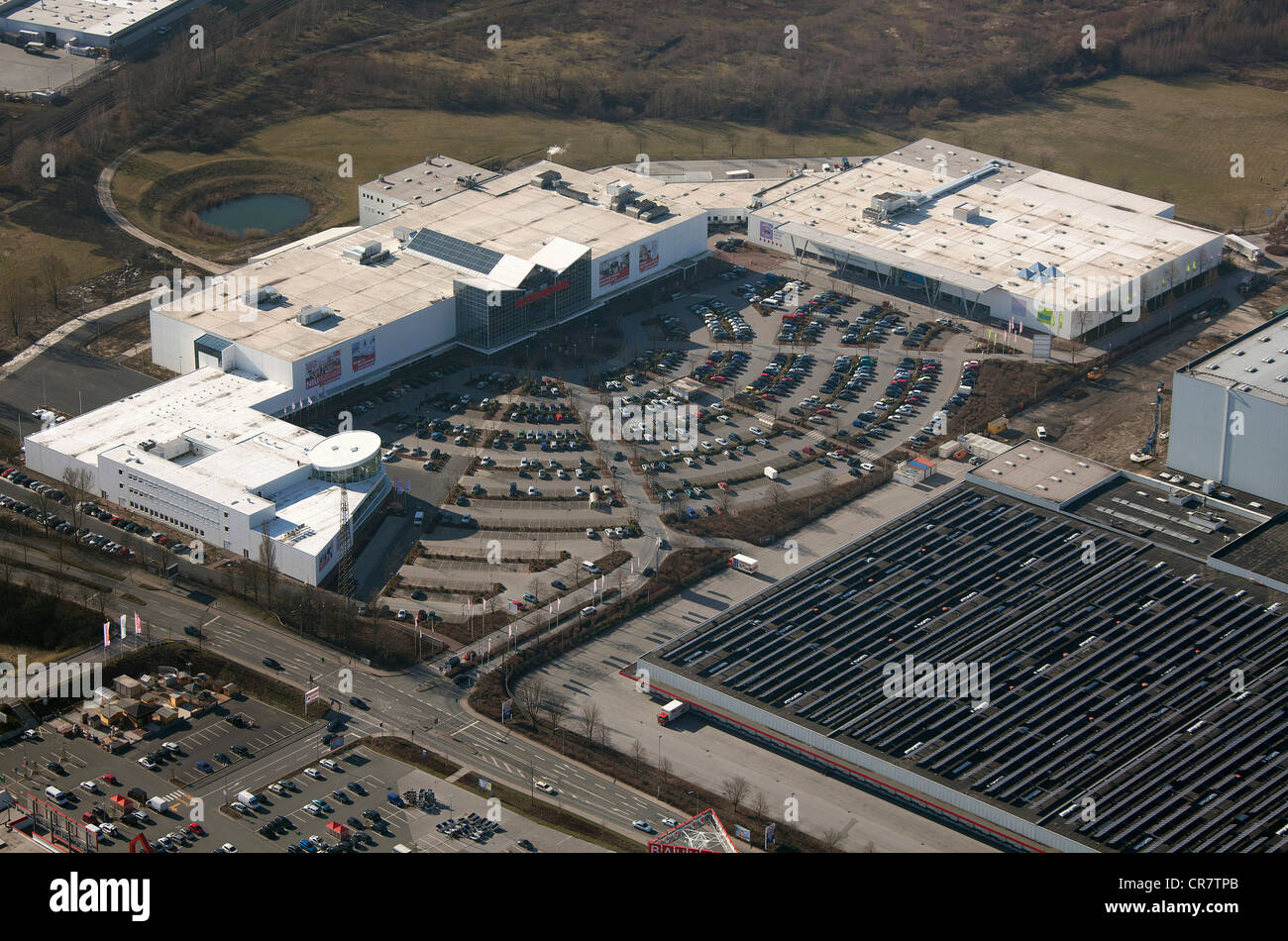 aerial view trends ostermann gmbh co kg expansion of the ostermann furniture store