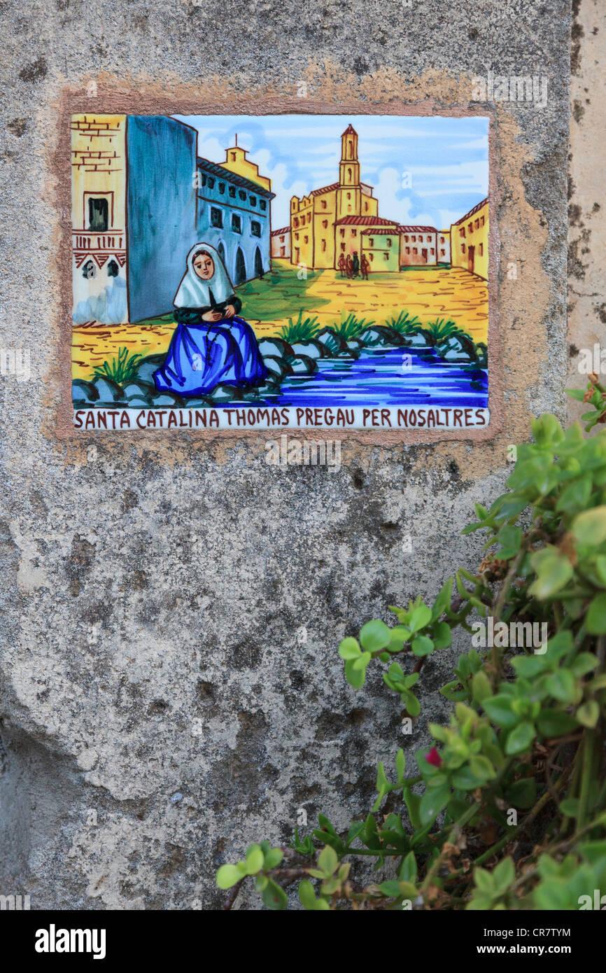 Spain, Balearic Islands, Mallorca, Valldemossa Mountain Village - Stock Image