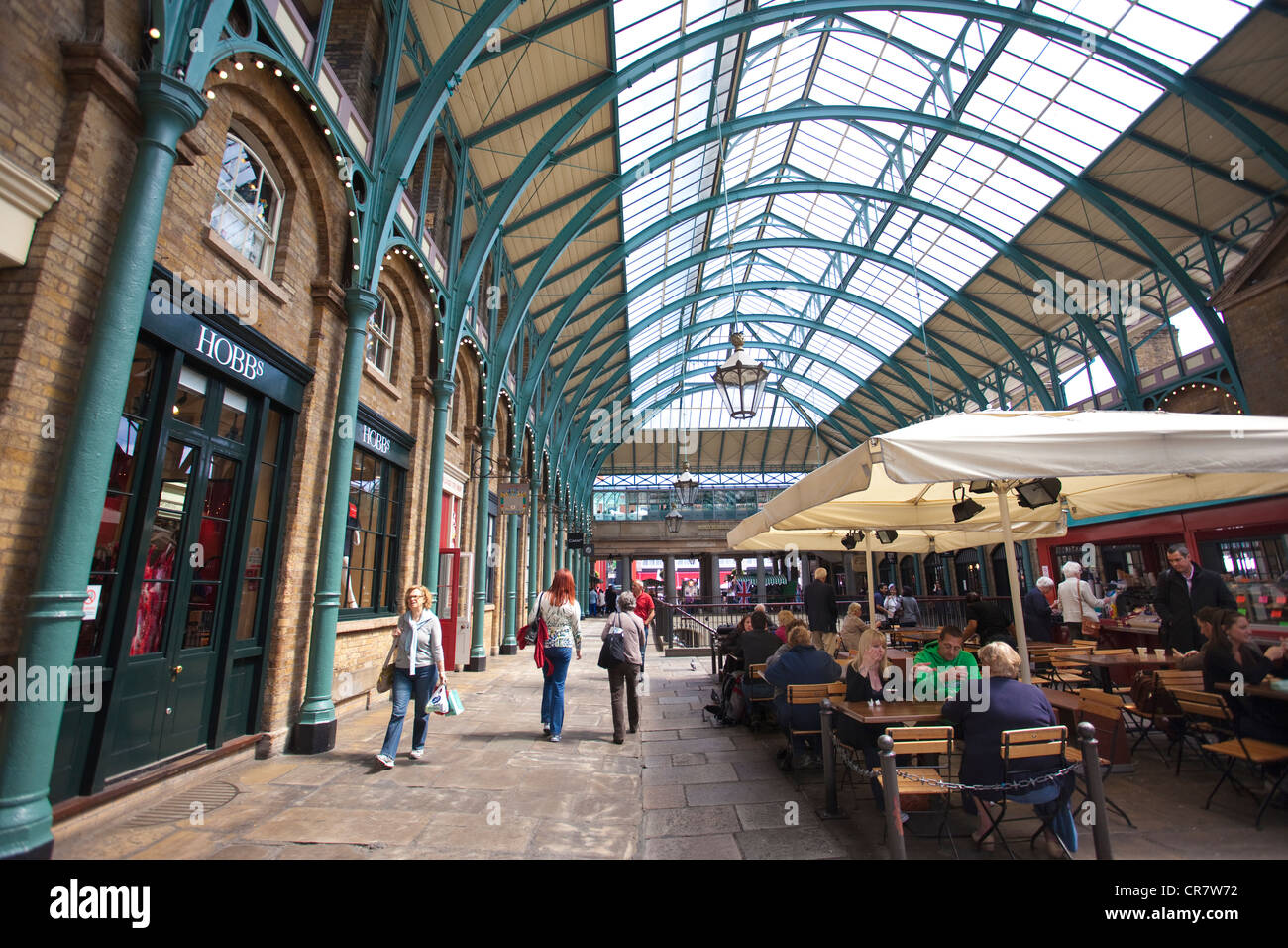Covent Garden Indoor market, West End shopping centre associated with Royal Opera House, Central London, England, - Stock Image