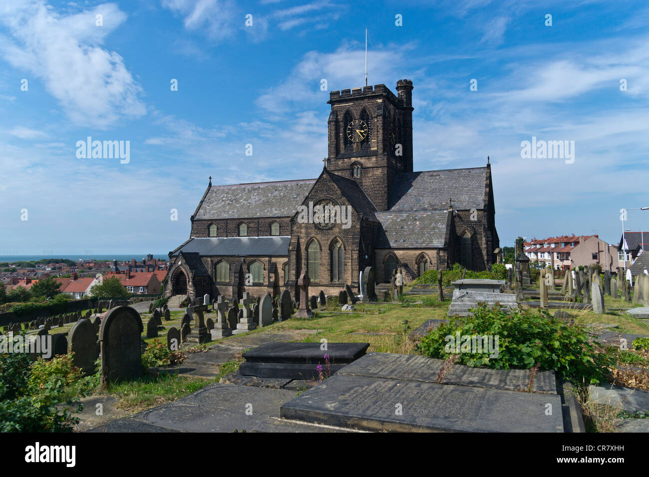 St Hilary's Church, Wallasey is in the town of Wallasey, Wirral, England. - Stock Image