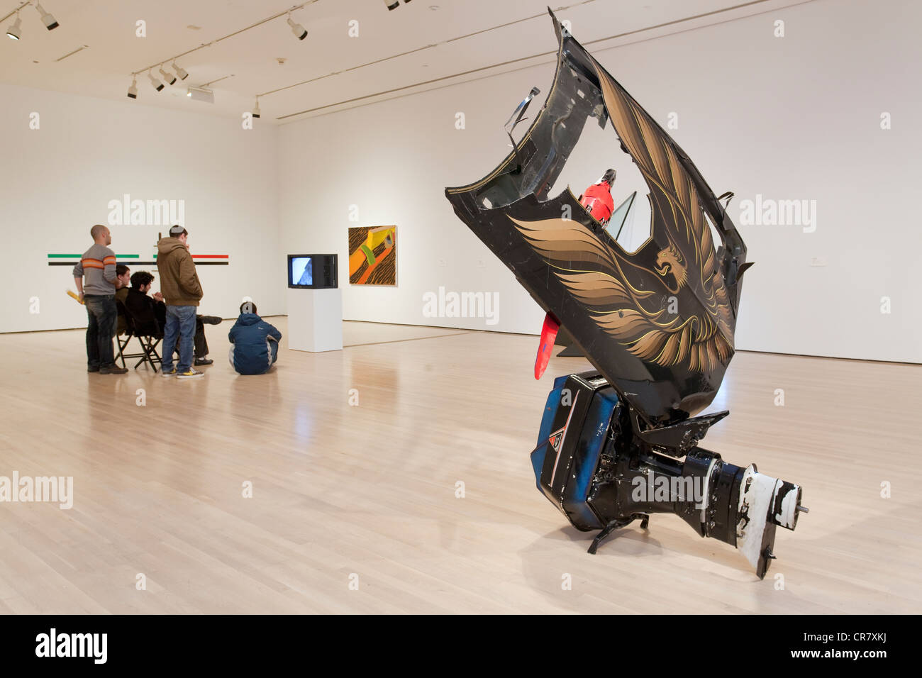 Canada, Quebec, Montreal, museum of contemporary art, MAC, permanent exhibition - Stock Image