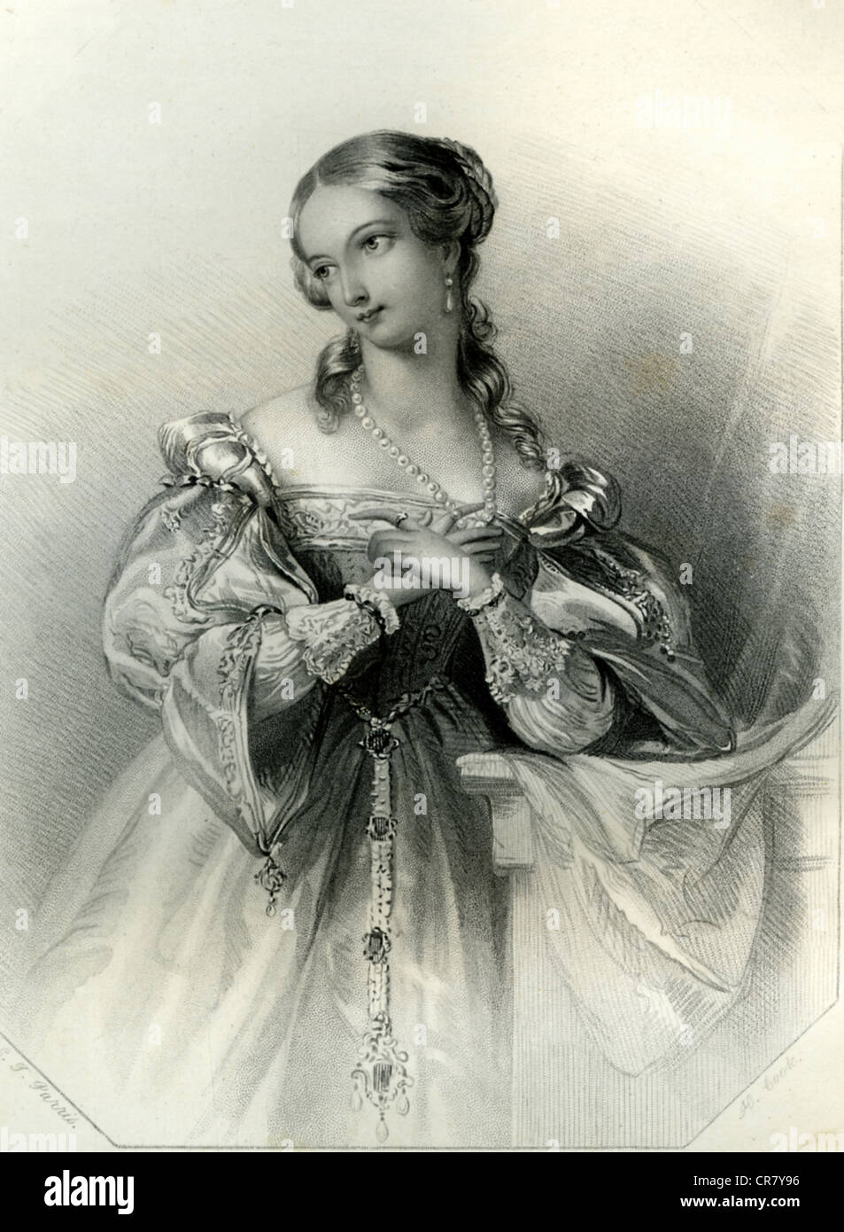 Juliet, Shakespearean heroine in 'Romeo and Juliet', historical illustration, 1868 - Stock Image