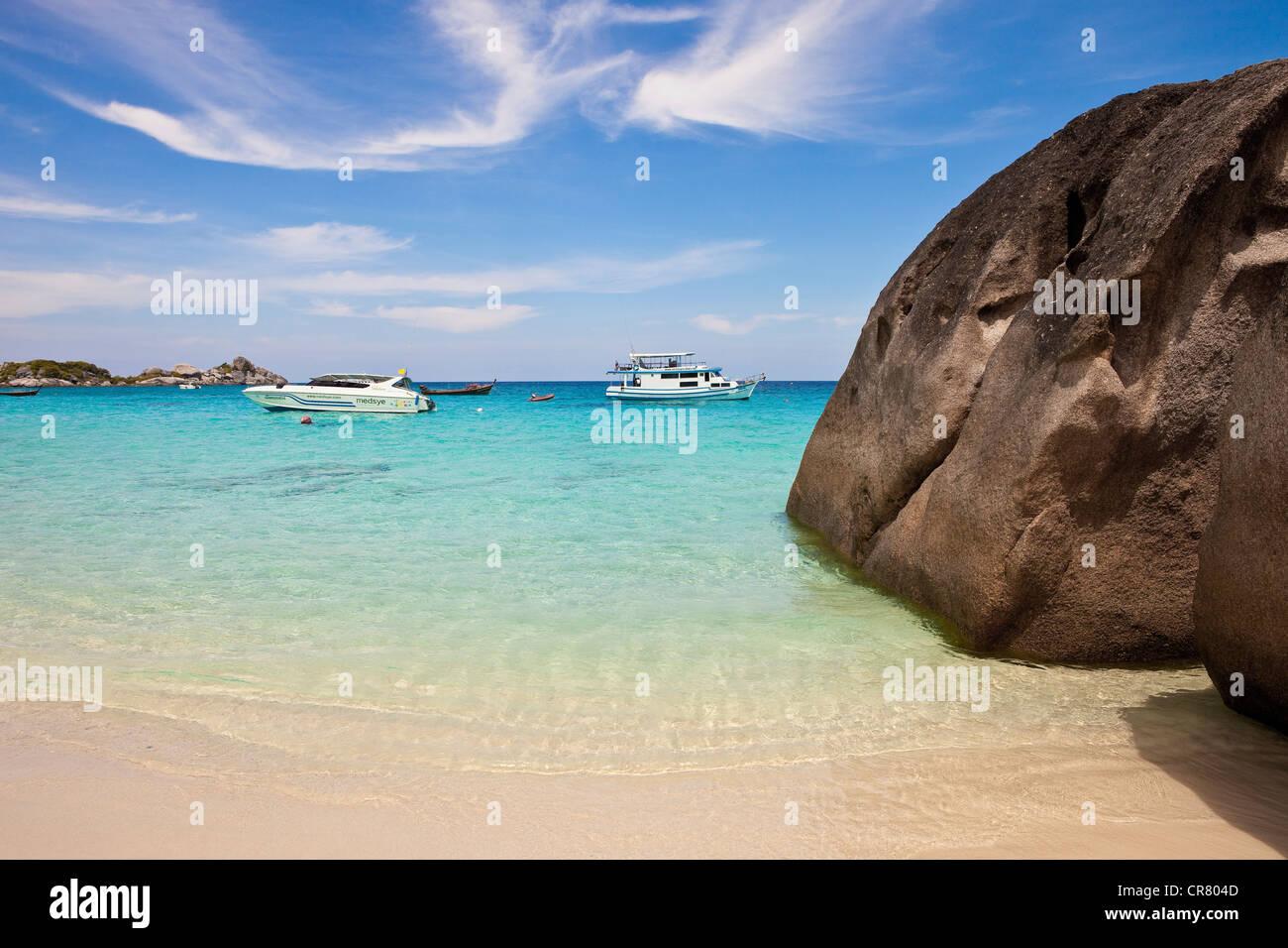 Thailand, North to the Andaman Coast, Similan National Marine Park, island n°8 - Stock Image