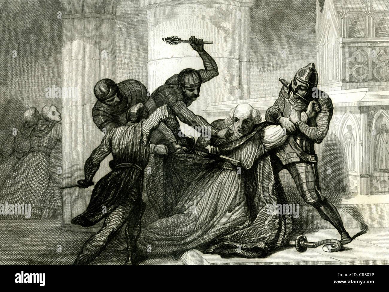 Assassination of Thomas Becket...