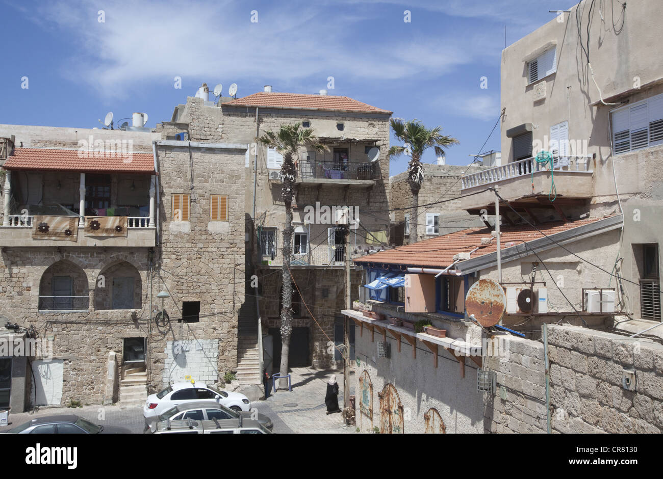 Dwellings in the Old City of Acre, Israel - Stock Image