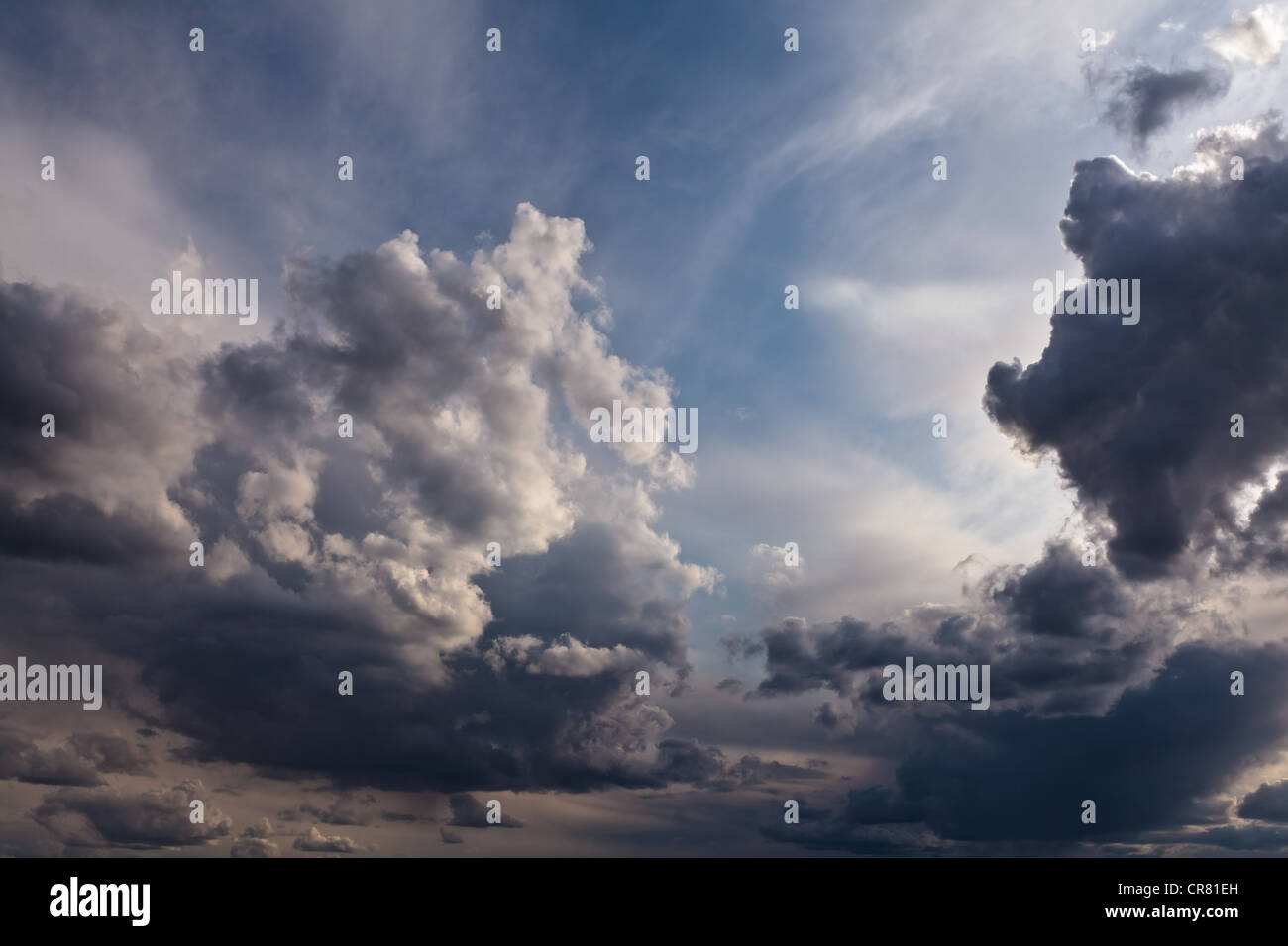 Cumulonimbus clouds. - Stock Image