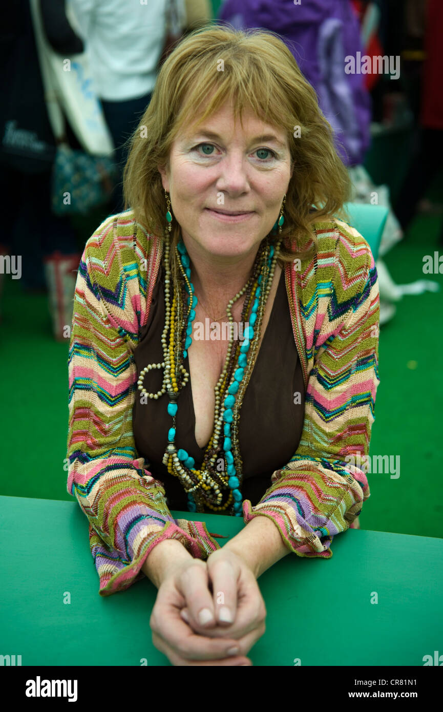 Hannah Rothschild, English writer and director pictured at The Telegraph Hay Festival 2012, Hay-on-Wye, Powys, Wales, - Stock Image