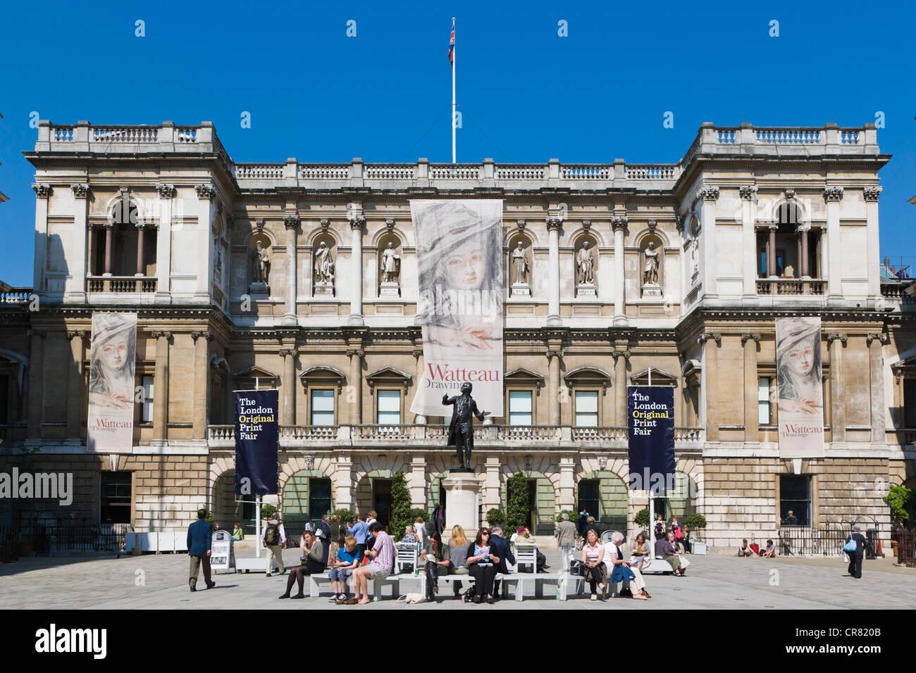 The Royal Academy of Arts, Burlington House, Piccadilly, London, England, United Kingdom, Europe - Stock Image