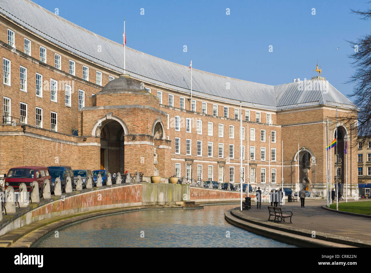The Council House, seat of the local government, College Green, Bristol, Gloucestershire, England, United Kingdom, - Stock Image