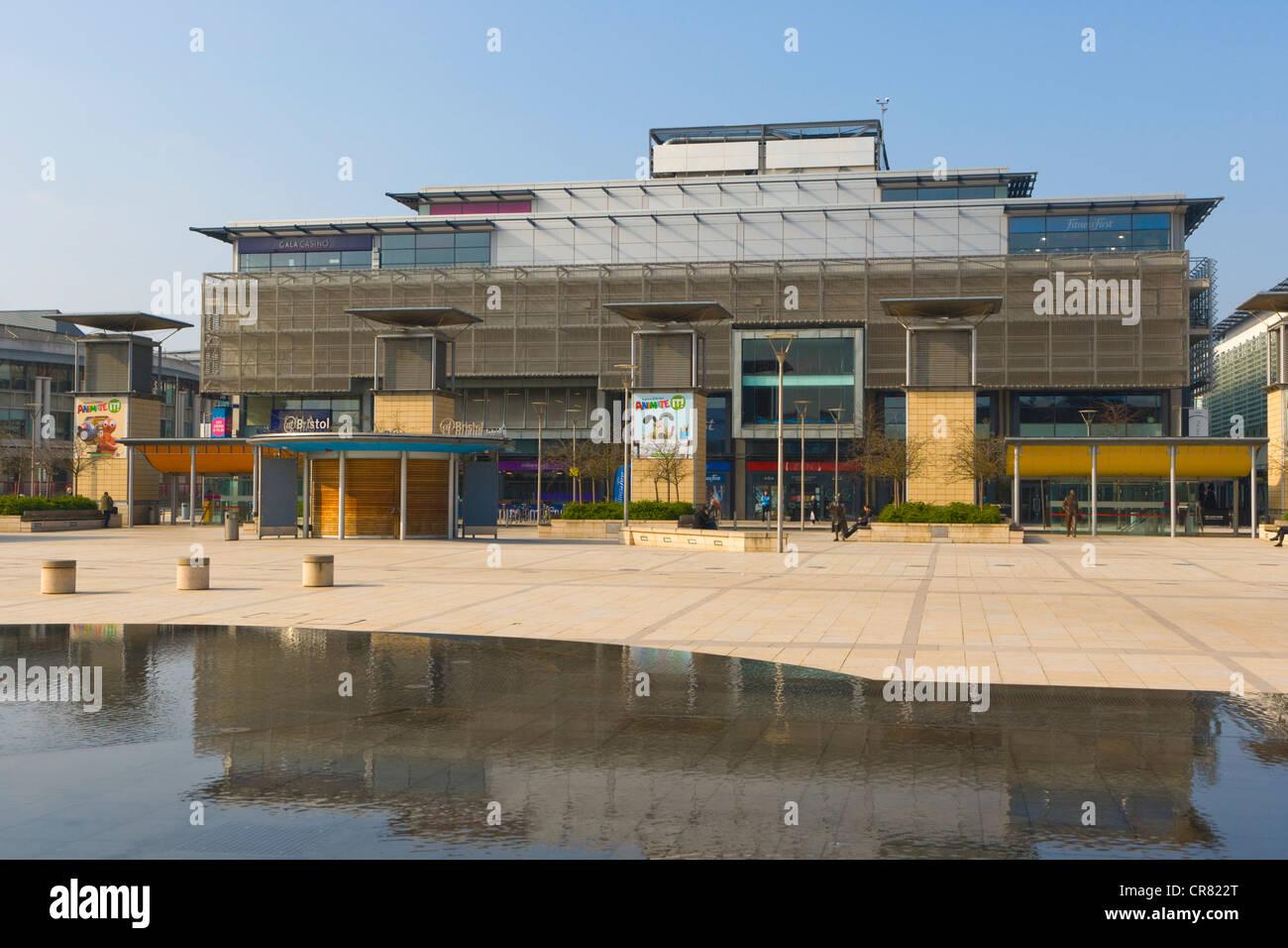 Millennium Square, Harbourside, Canon's Wharf, Bristol, Gloucestershire, England, United Kingdom, Europe - Stock Image