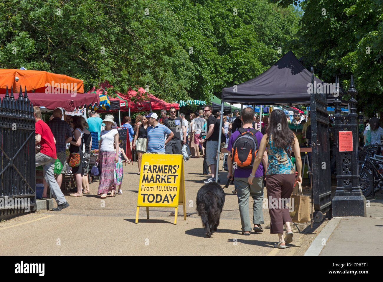 City & Country Sunday Farmers Market - Alexandra Palace Park - Muswell Hill - London - Stock Image