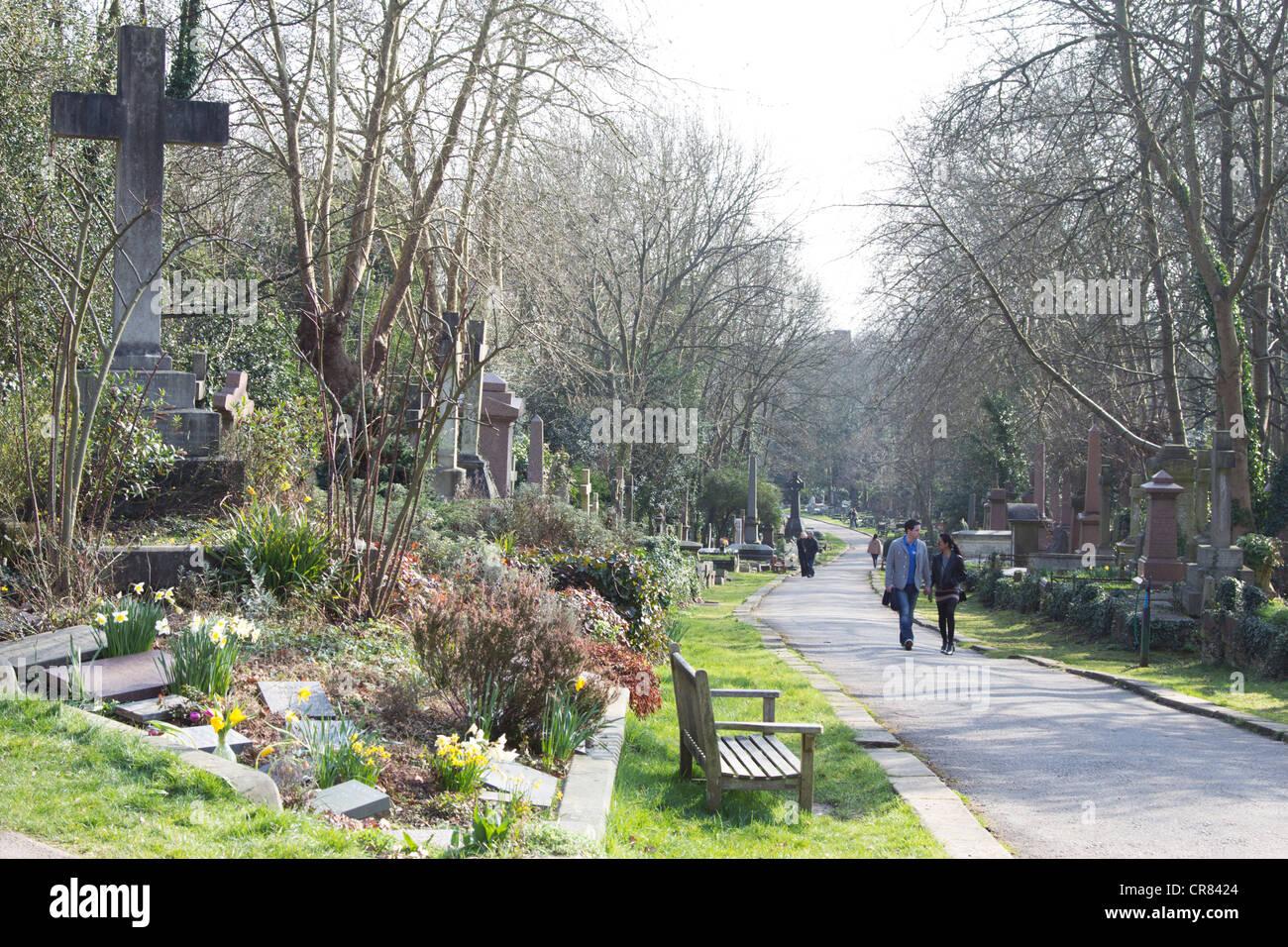 Highgate Cemetery - Camden - London - Stock Image