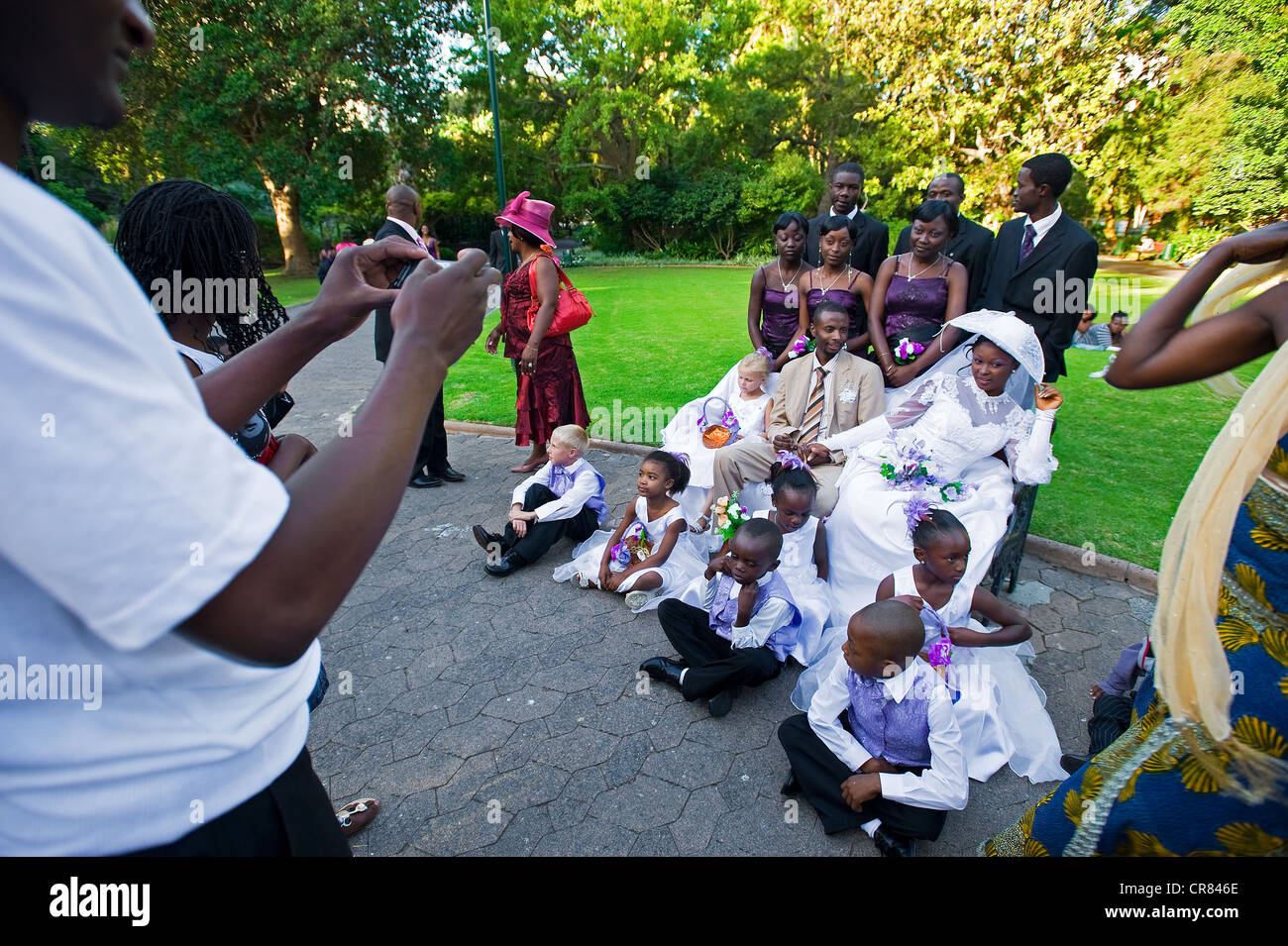 South Africa, Western Cape, Cape Town, wedding of Zaire immigrants in the Company's Garden - Stock Image