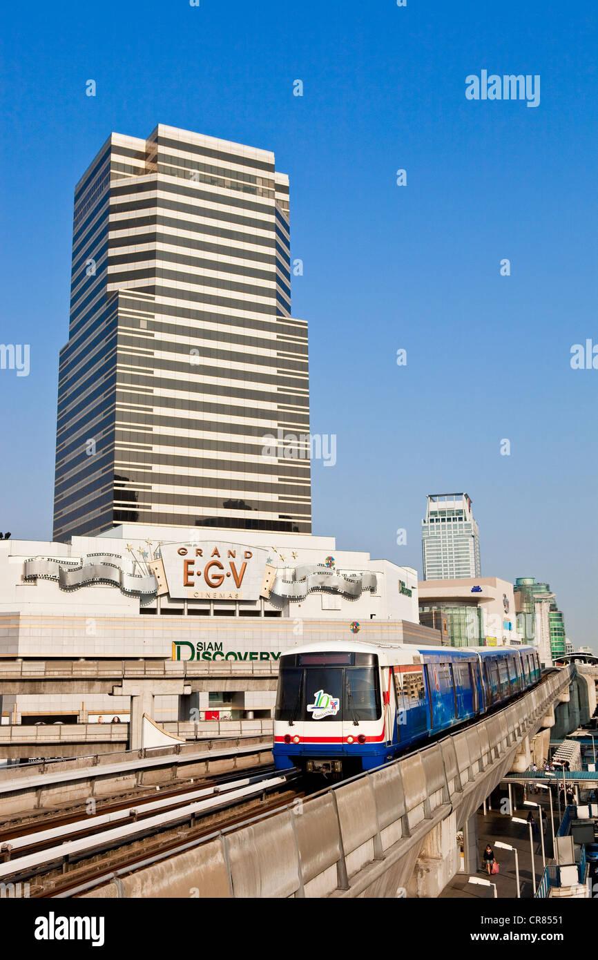Thailand, Bangkok, the BTS skytrain Stock Photo
