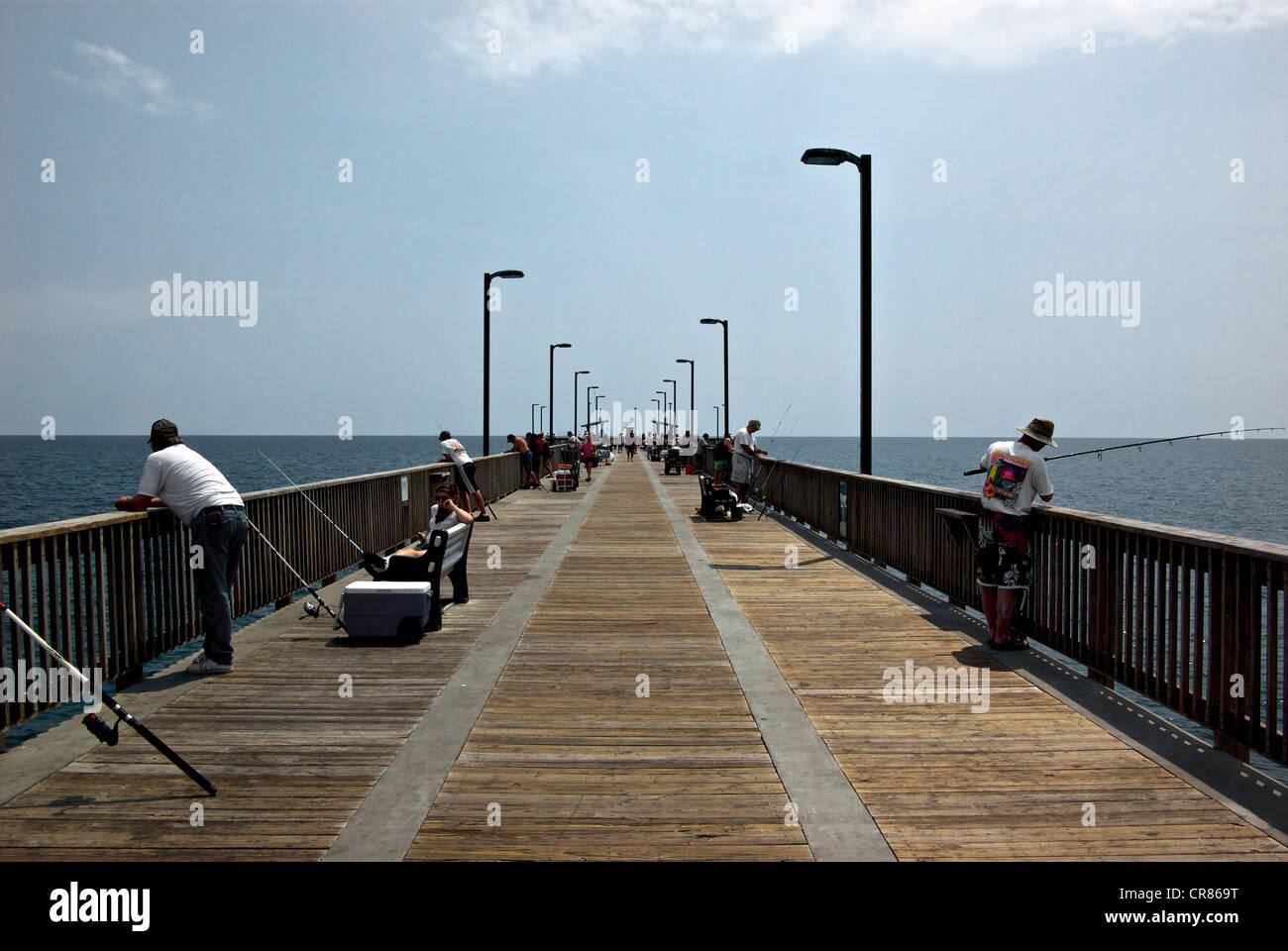 Gulf Shores State Park Alabama sport fishing pier Stock Photo